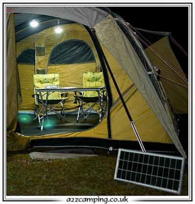 Solar Powered Hubi 2k Awning Tent Lighting System